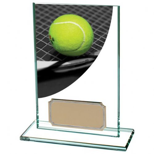 Colour Curve Tennis Jade Glass Award 125mm